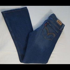 Levi's superlow flare leg jeans